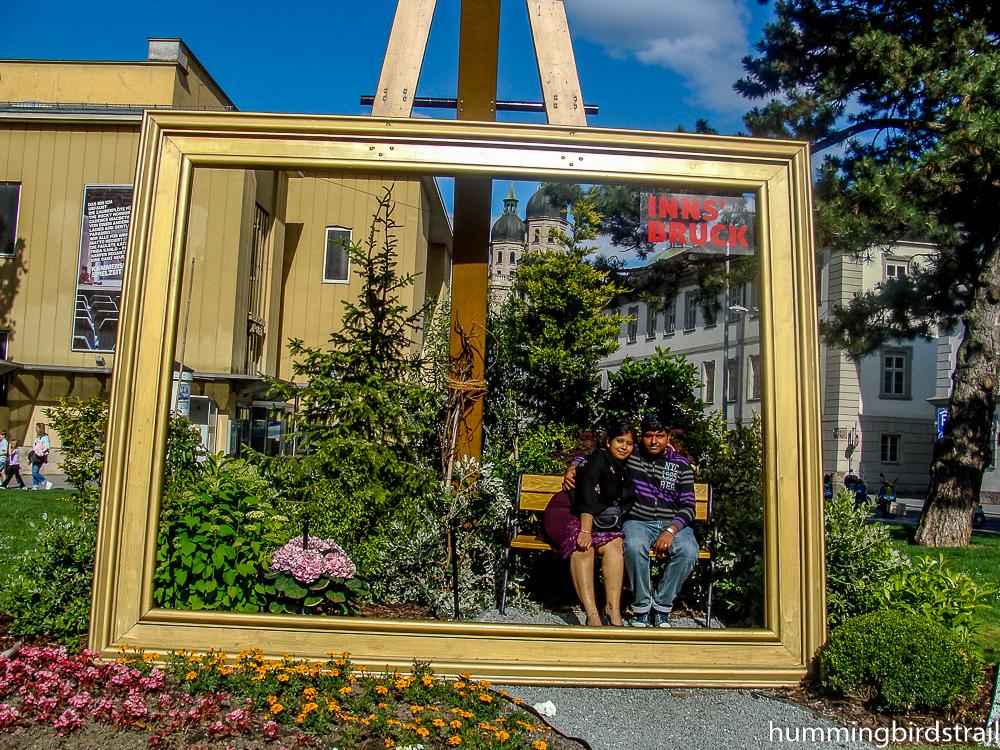 Famous photo frame of Innsbruck