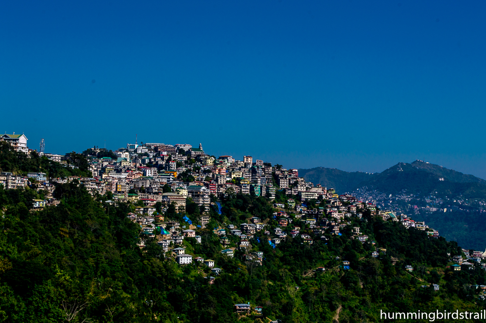 Aizawl city from Chaltlang Tourist Lodge
