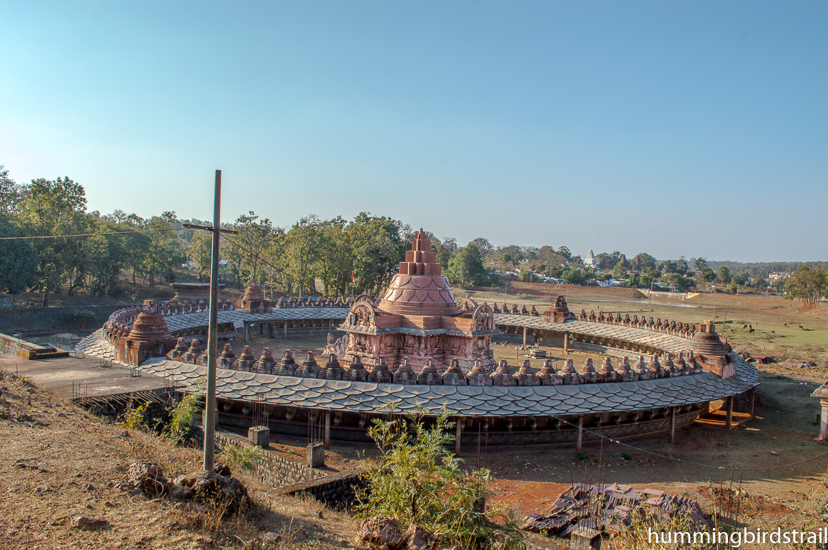 Yantra Mandir from the nearby hill