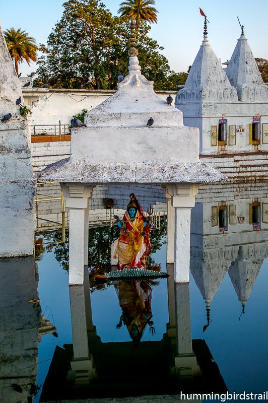 Mata Narmada on her vahana Crocodile
