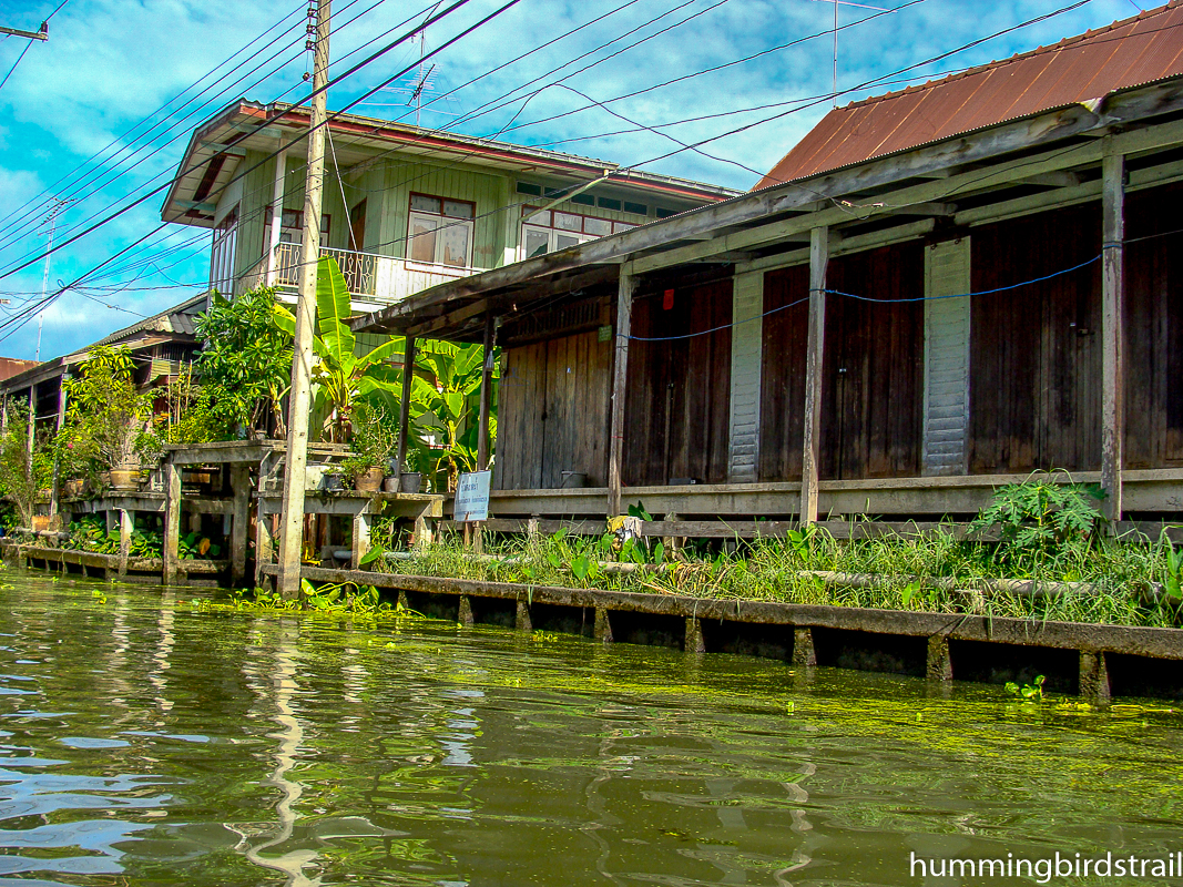 Typical Thai house by the canal