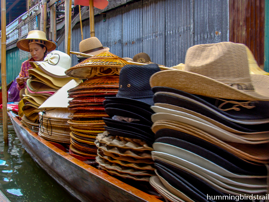 A boat full of hats