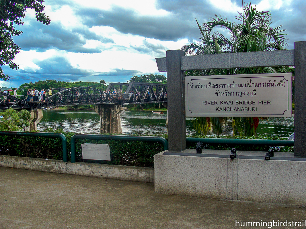 Bridge on the river Kwai and the Death Rail way site at Kanchanaburi